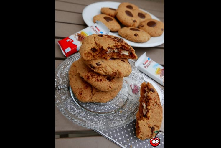 Recette des Cookies vegan coeur kinder country par Caporalcerise (caporalcerise.fr)