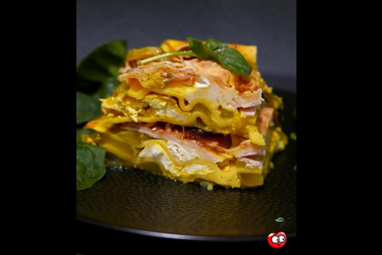Recette des Lasagnes courgettes chèvre currys par Caporal Cerise (Caporalcerise.fr)