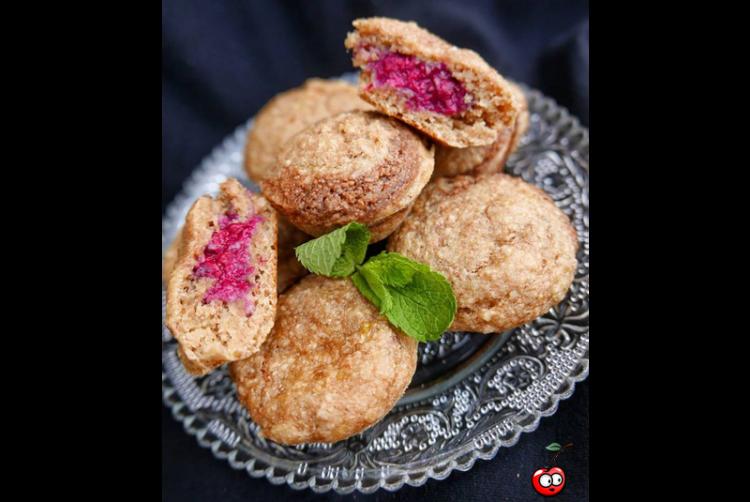 Recette des muffins banana bread coeur surprise par Caporal Cerise (caporalcerise.fr)