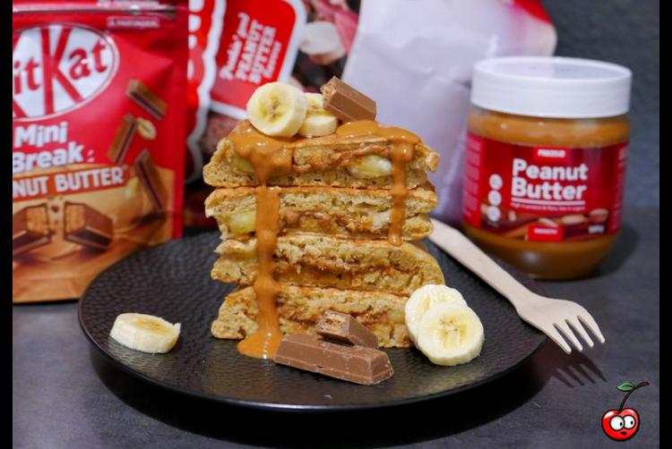 Recette des Pancakes peanut butter lover par Caporal Cerise (caporalcerise.Fr)