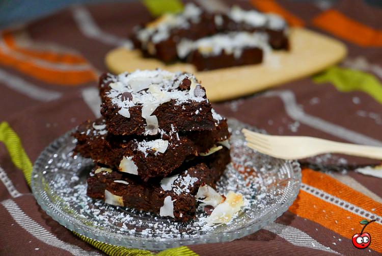 Recette du Brownie Vegan choco noix de coco par Caporal Cerise (caporalcerise.Fr)