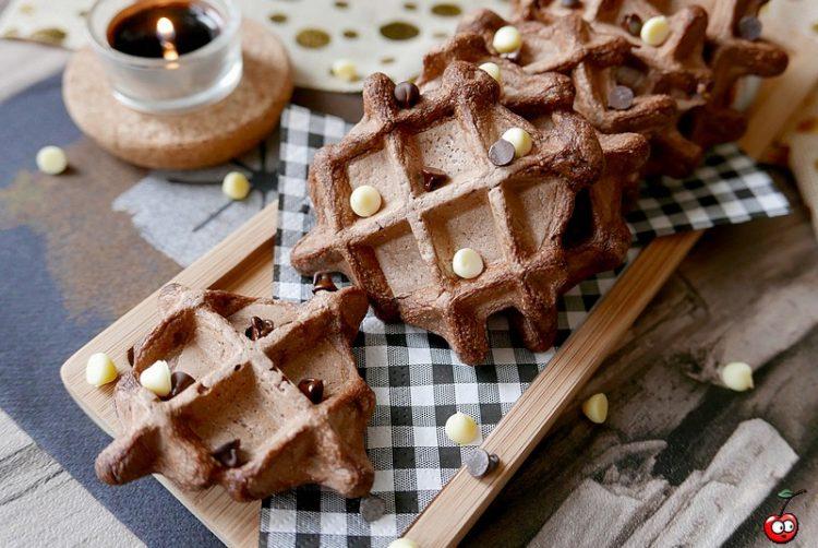 Recette des graufres façon brownie aux pépites de chocolat par caporal cerise (caporalcerise.Fr)