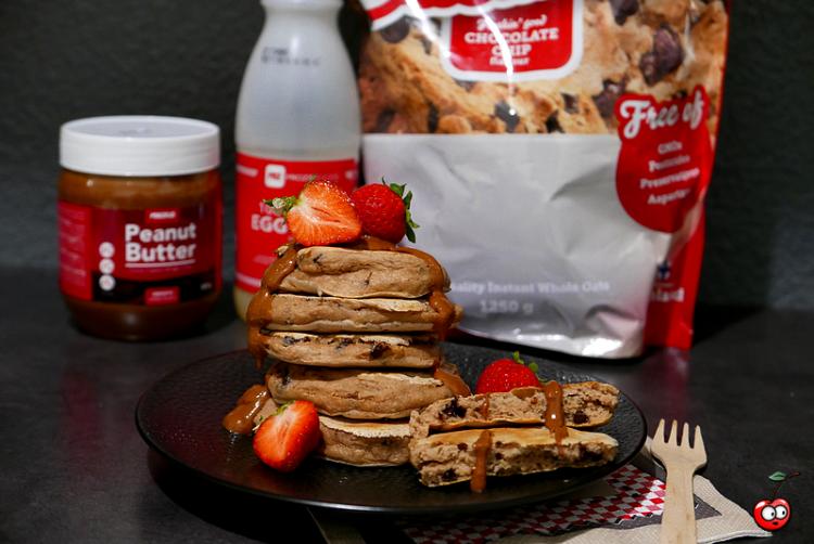 Recette des pancakes aux pépites de chocolat par Caporal Cerise (caporalcerise.Fr)