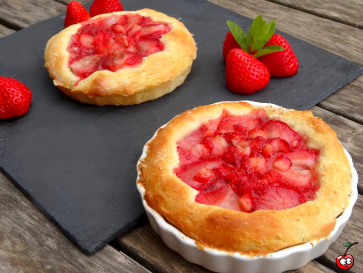 Recettes de tartelettes briochées aux fraises par Caporal Cerise (caporalcerise.Fr)