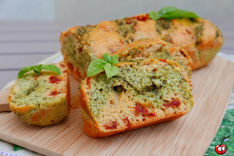 Recette du cake au pesto et aux tomates séchées par caporal cerise (caporalcerise.Fr)