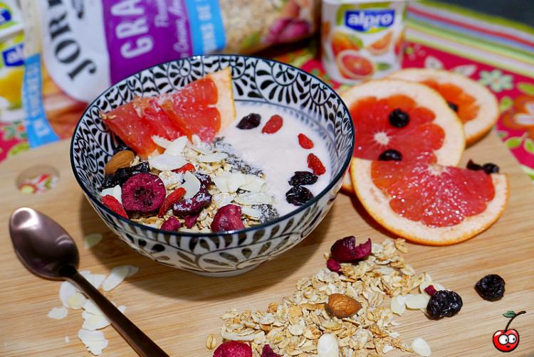 Recettes du granola bowl auw agrumes par caporalcerise (caporalcerise.Fr)