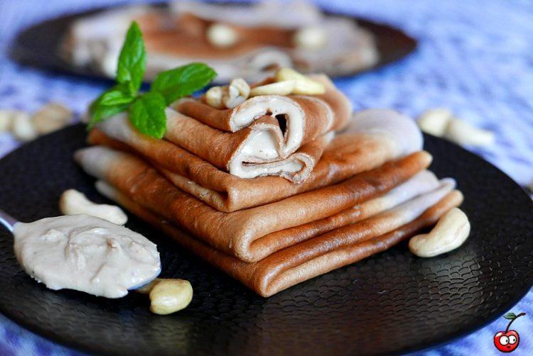 Recette des crêpes aux pépites de chocolat et purée de cajou par Caporal Cerise (caporalcerise.Fr)
