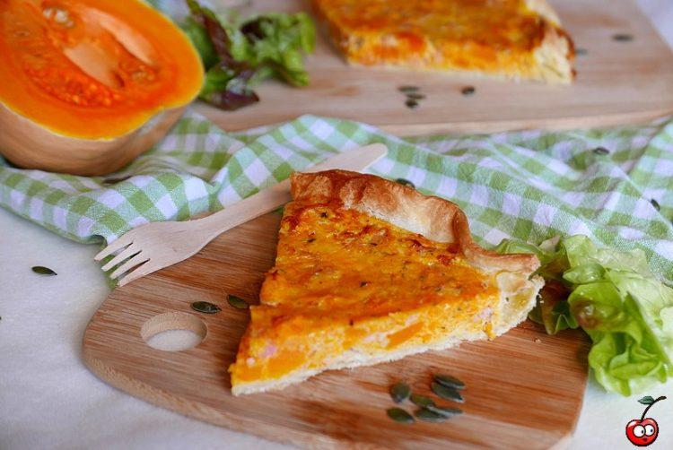 Recette de la quiche fondante au butternut et bacon par caporal cerise (caporalcerise.Fr)