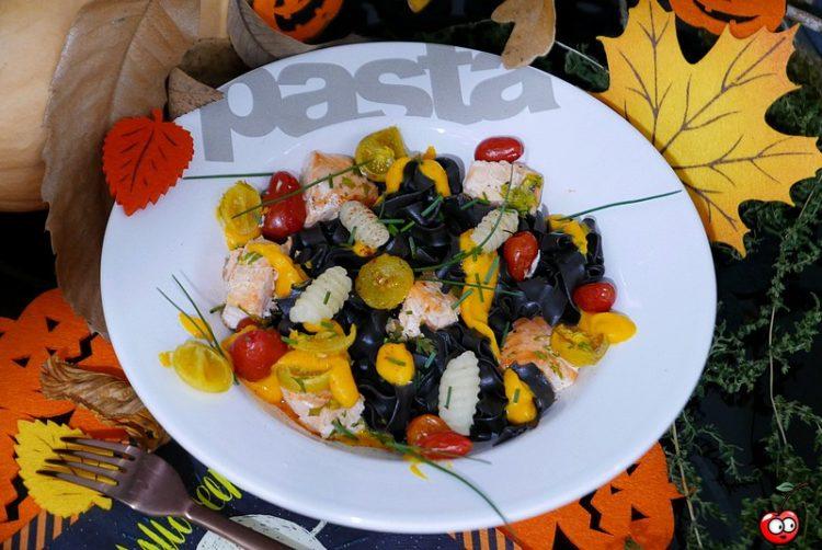 Recette des tagliatelles et saumon a la crème de butternut par caporalcerise (caporalcerise.Fr)