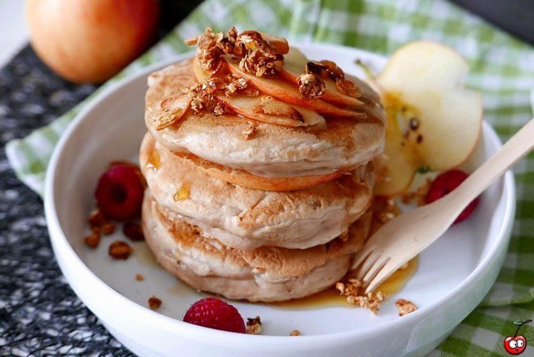 Recettes des maxis pancakes aux pommes par caporal cerise (caporalcerise.Fr)