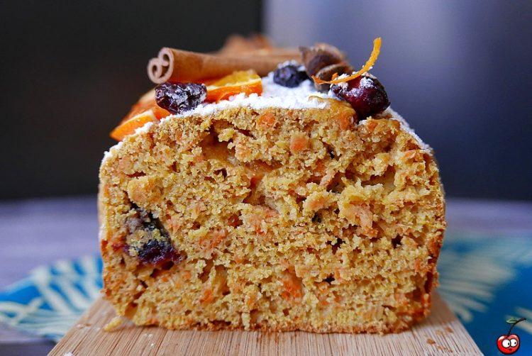 Recette du carrote cake orange cranberries par caporal cerise (caporalcerise.fr)