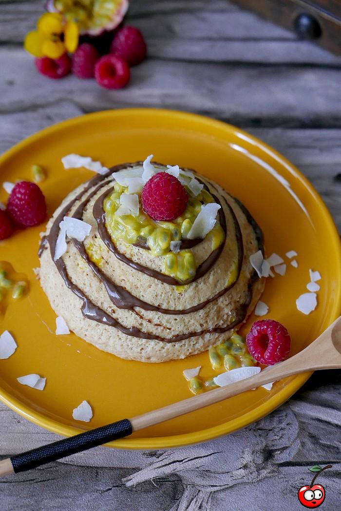 Recette du bowlcake coco passion au coeur coulant chocolat par caporal cerise (caporalcerise.fr)