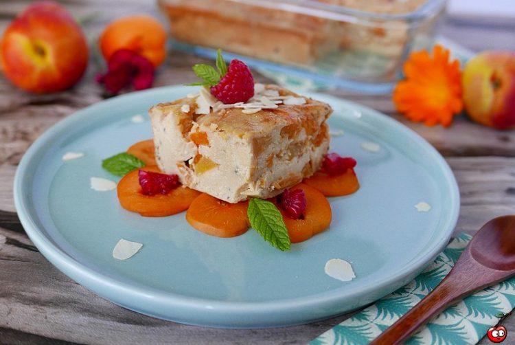 Recette du clafoutis à l'amande, aux abricots et nectarines par caporal cerise (caporalcerise.Fr)