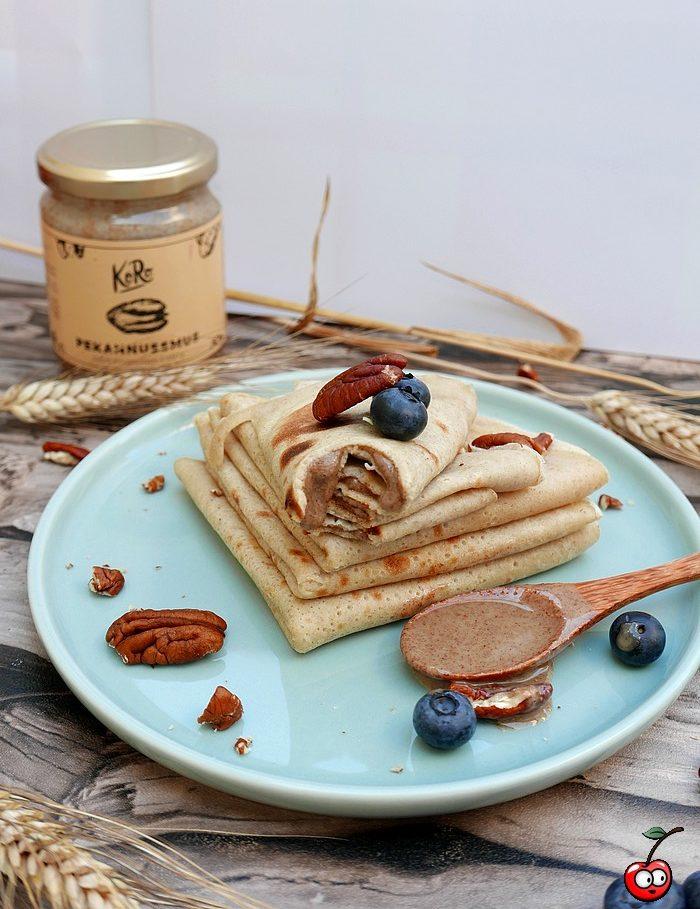 Recette des crêpes à la vanille et pécan par caporal cerise (caporalcerise.Fr)