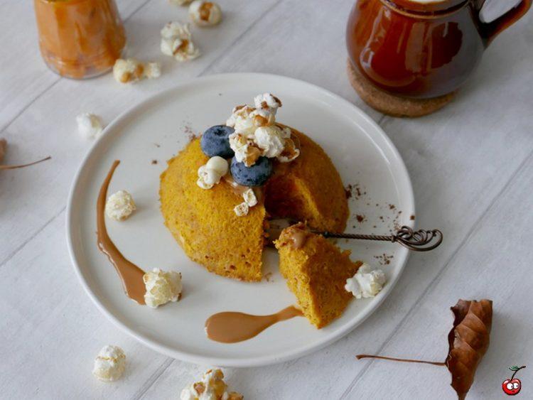 Recette du bowlcake au potimarron et pop corn par caporal cerise (caporalcerise.fr)