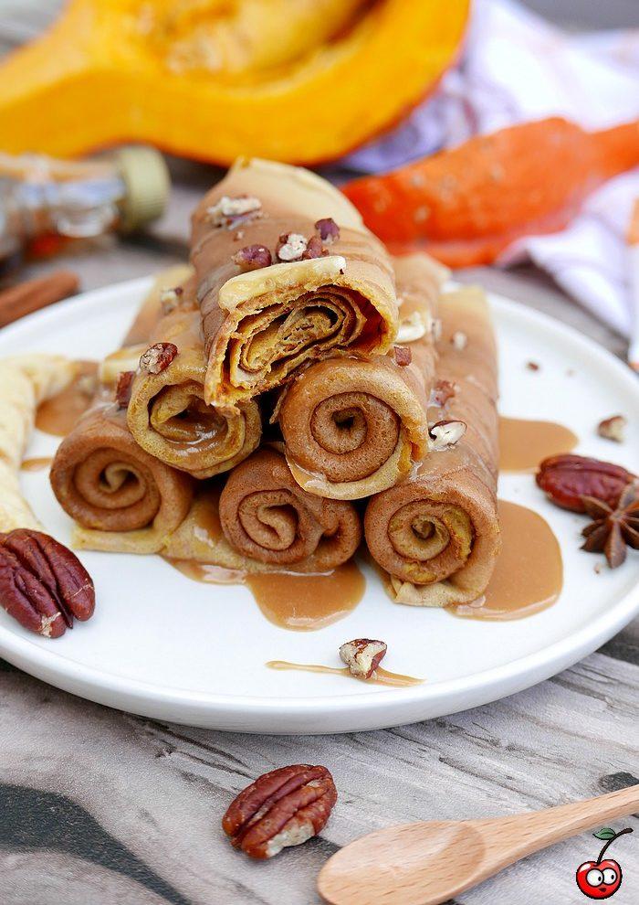 recette des pumpkin crepes (crepes aux potimarron) par caporal cerise (caporalcerise.fr)